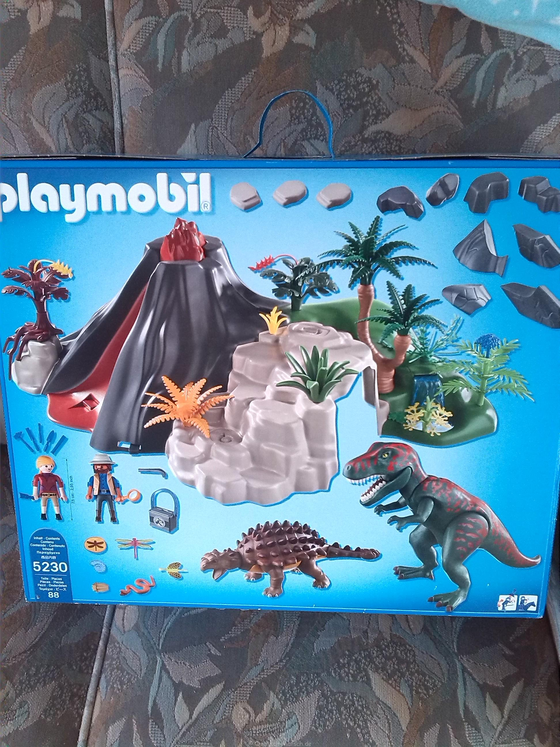 playmobil 5230 t rex und saichania beim vulkan spielzeugtest der familienblog f r kreative. Black Bedroom Furniture Sets. Home Design Ideas