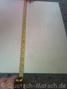 Spanplatte ausmessen