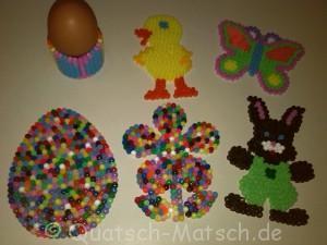 Oster und Frühlings Deko aus Bügelperlen