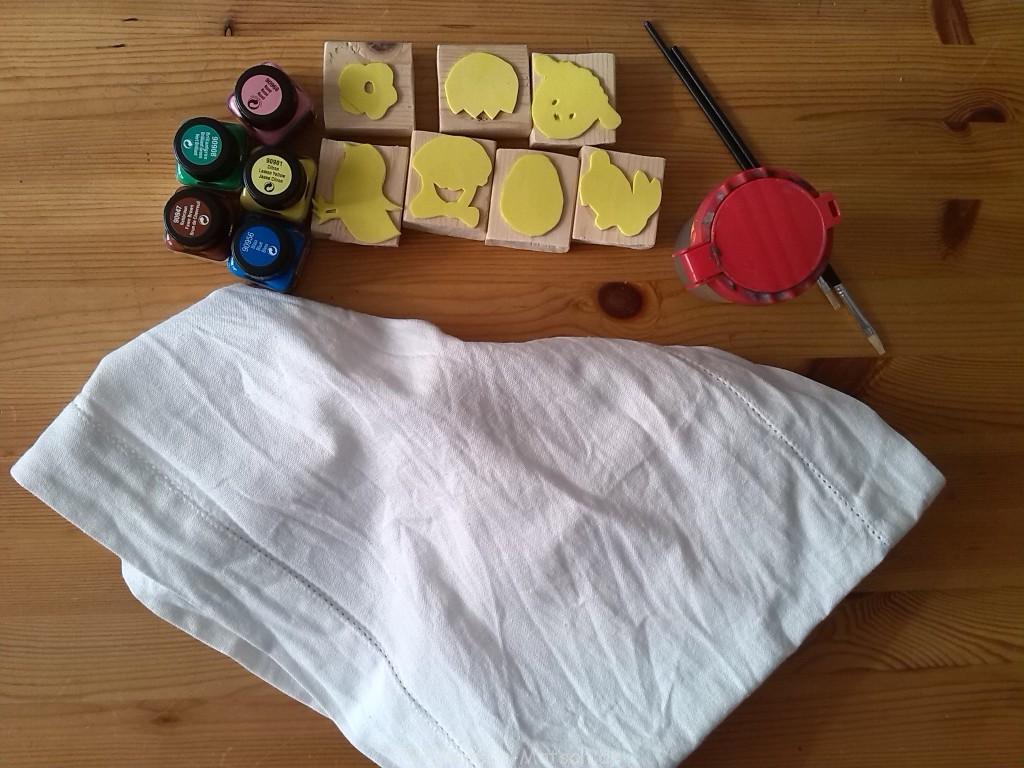 Material Tischdecke selber machen Ostern