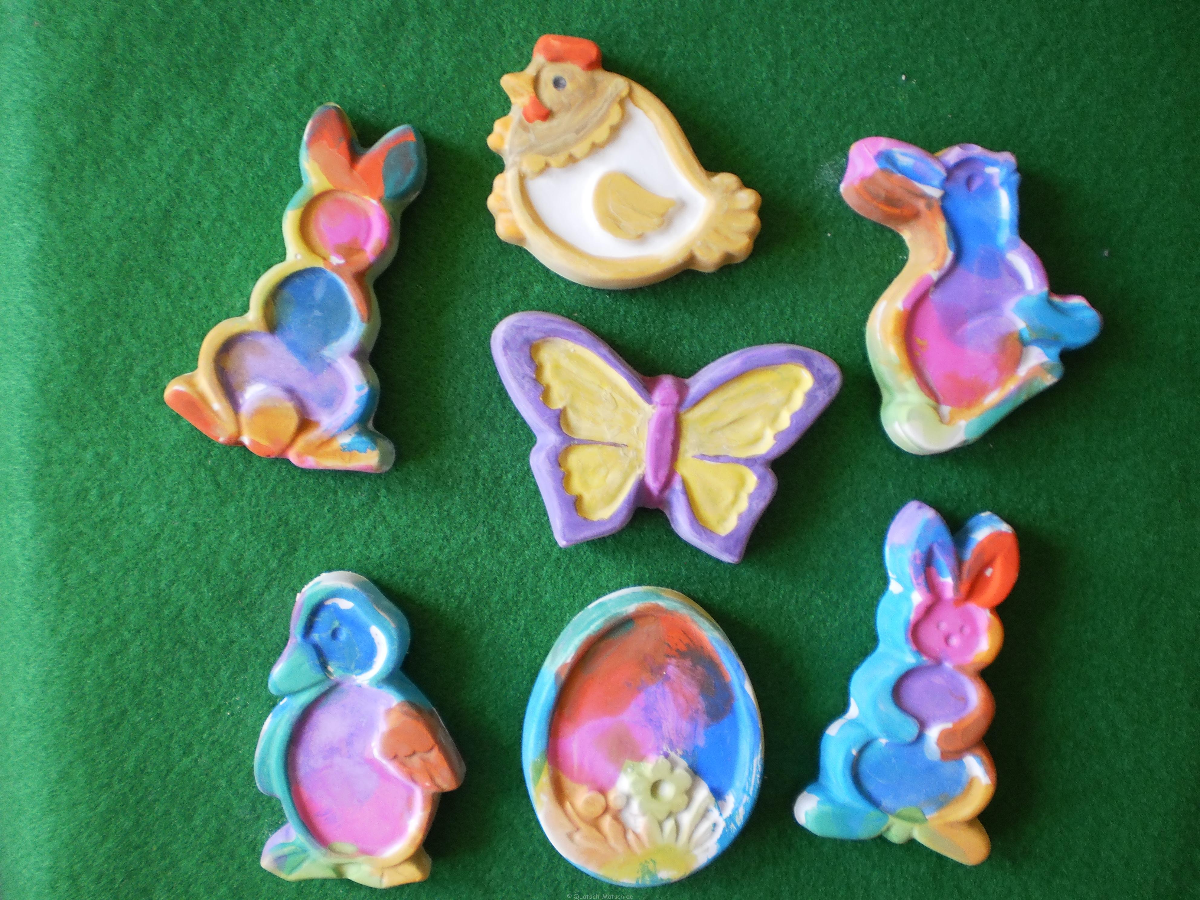 Osterfiguren aus Gips