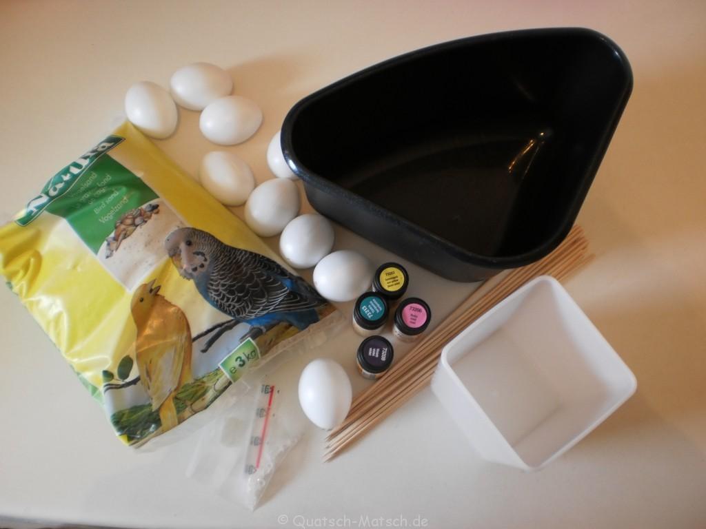 Ostereier selber machen Material