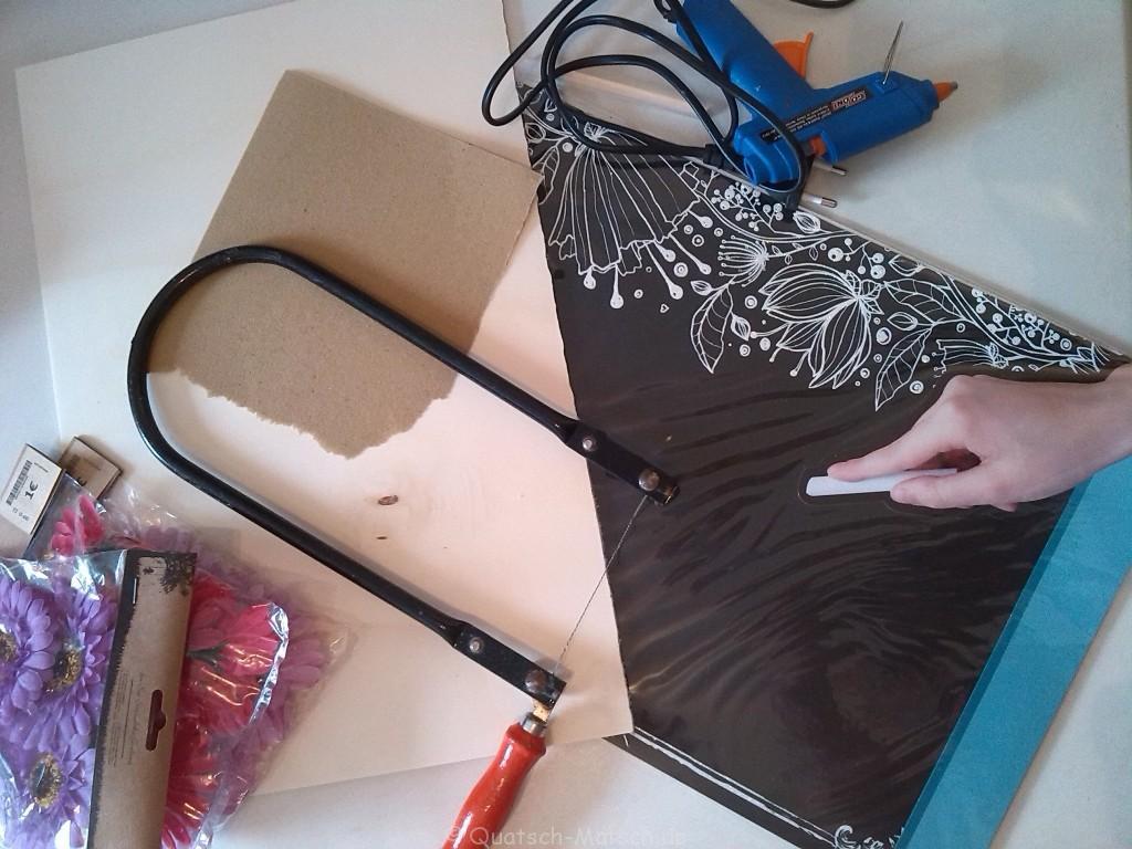Material Tafel selber machen - basteln