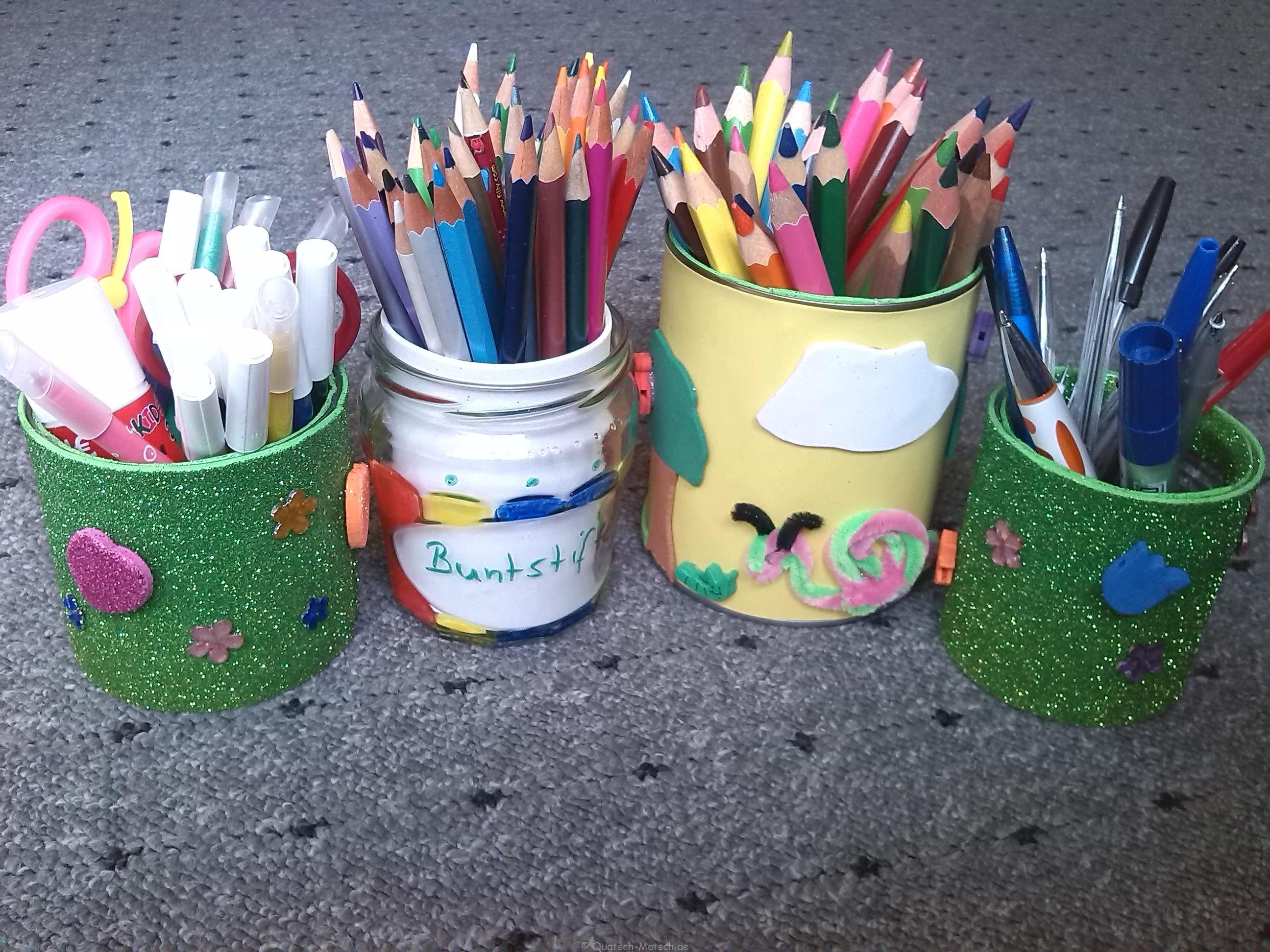 Stiftdosen – schnell und kinderleicht selber machen
