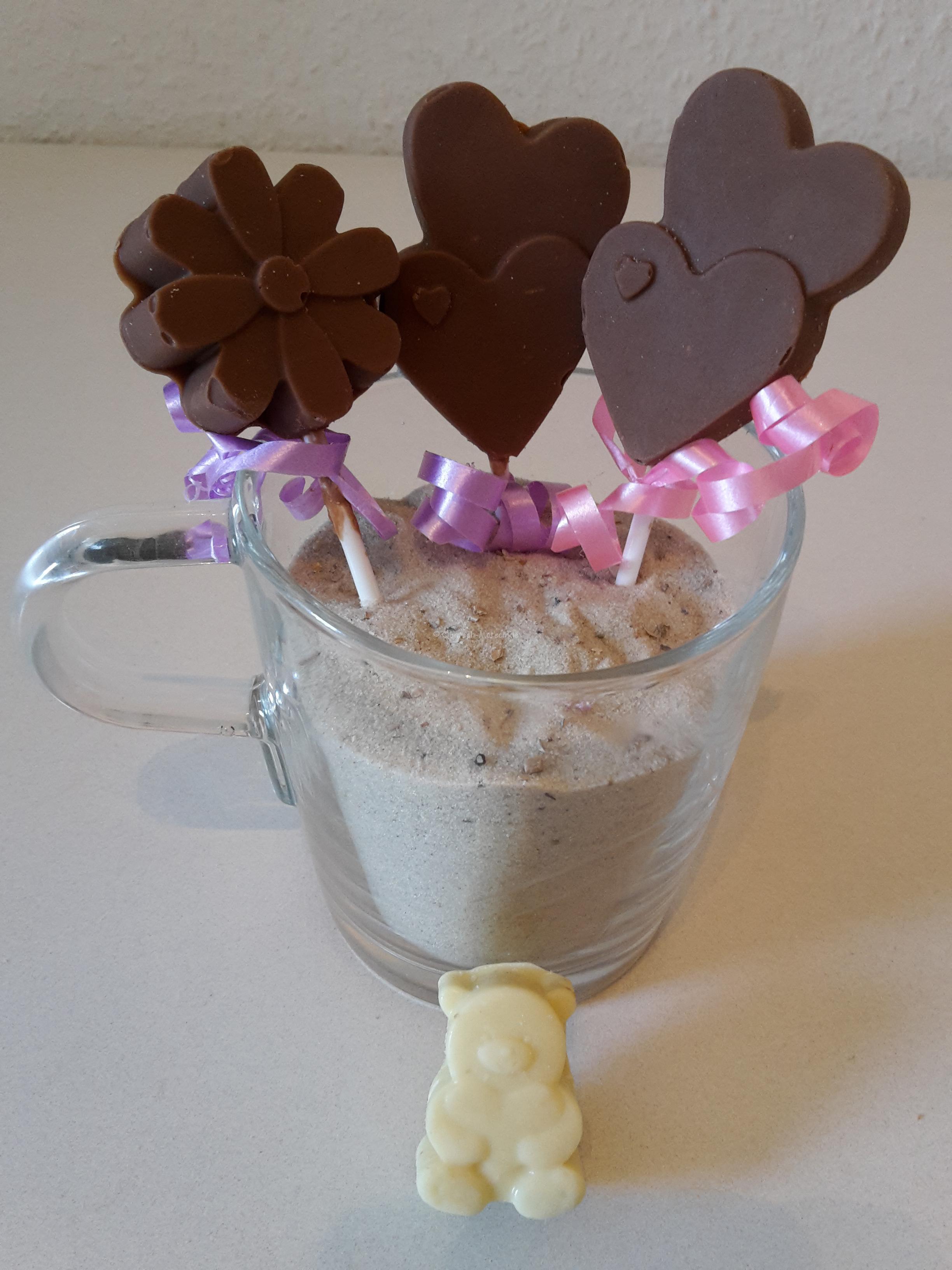 Leckere Schokoladenlollies und Tiere selbst gemacht