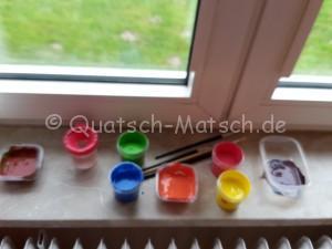 Fenster mit Fingerfarben