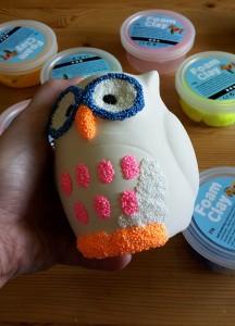 Spardosen mit Foam Clay