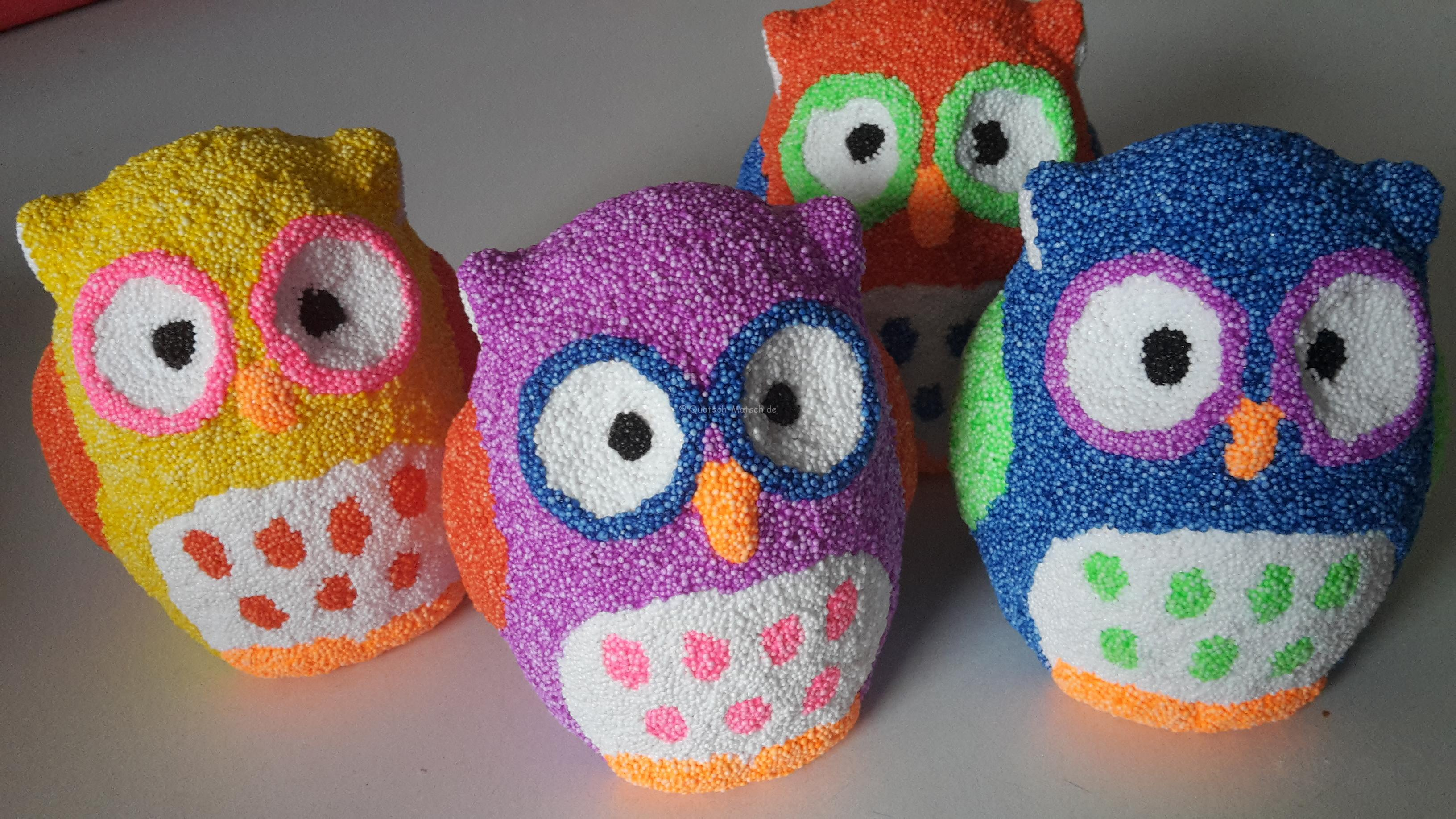 Foam Clay Eulen Spardosen – DIY