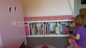 Bücherregal Sitzband selber bauen DIY