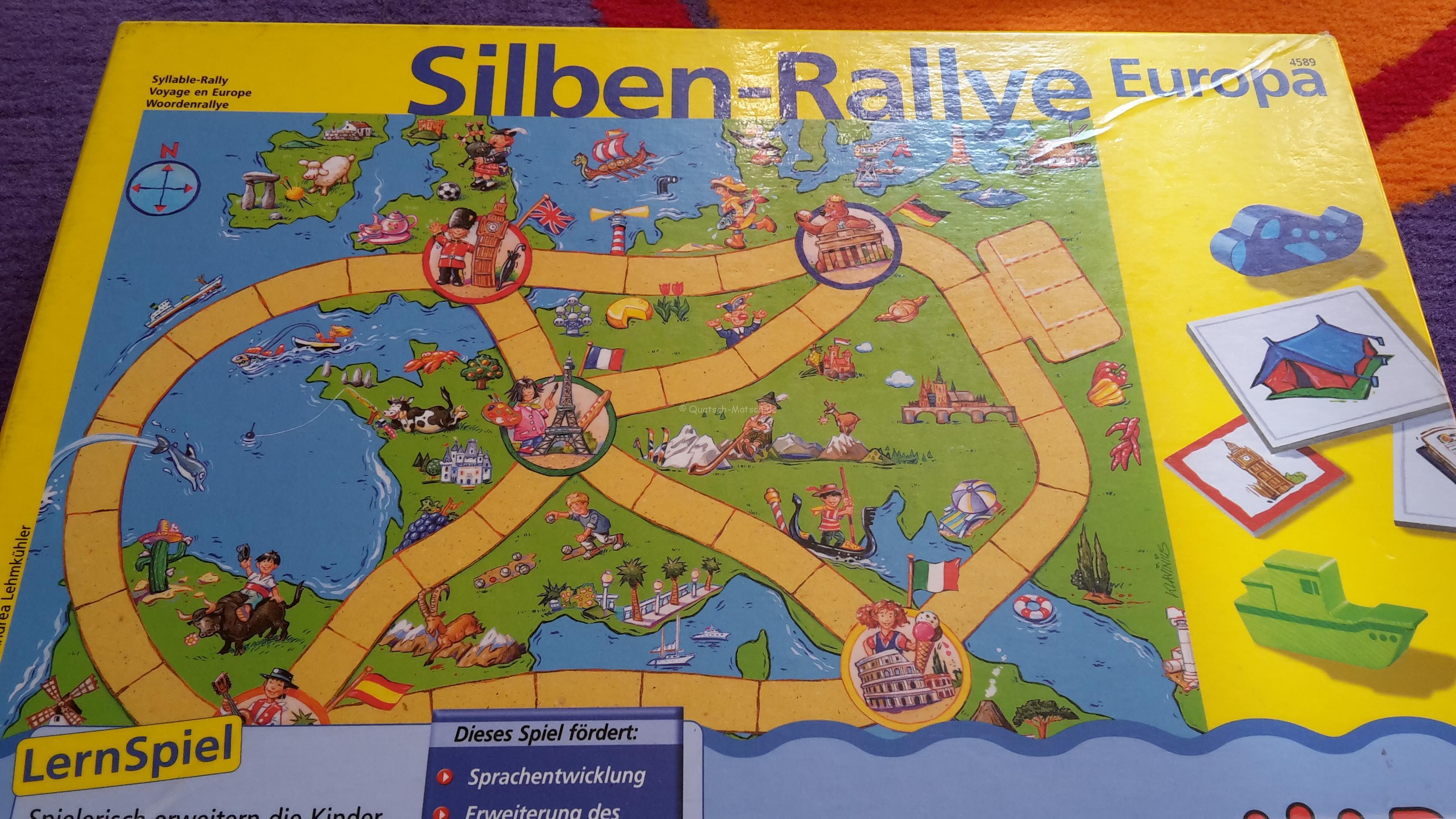 Silben-Rallye Europa von HABA im Spieletest