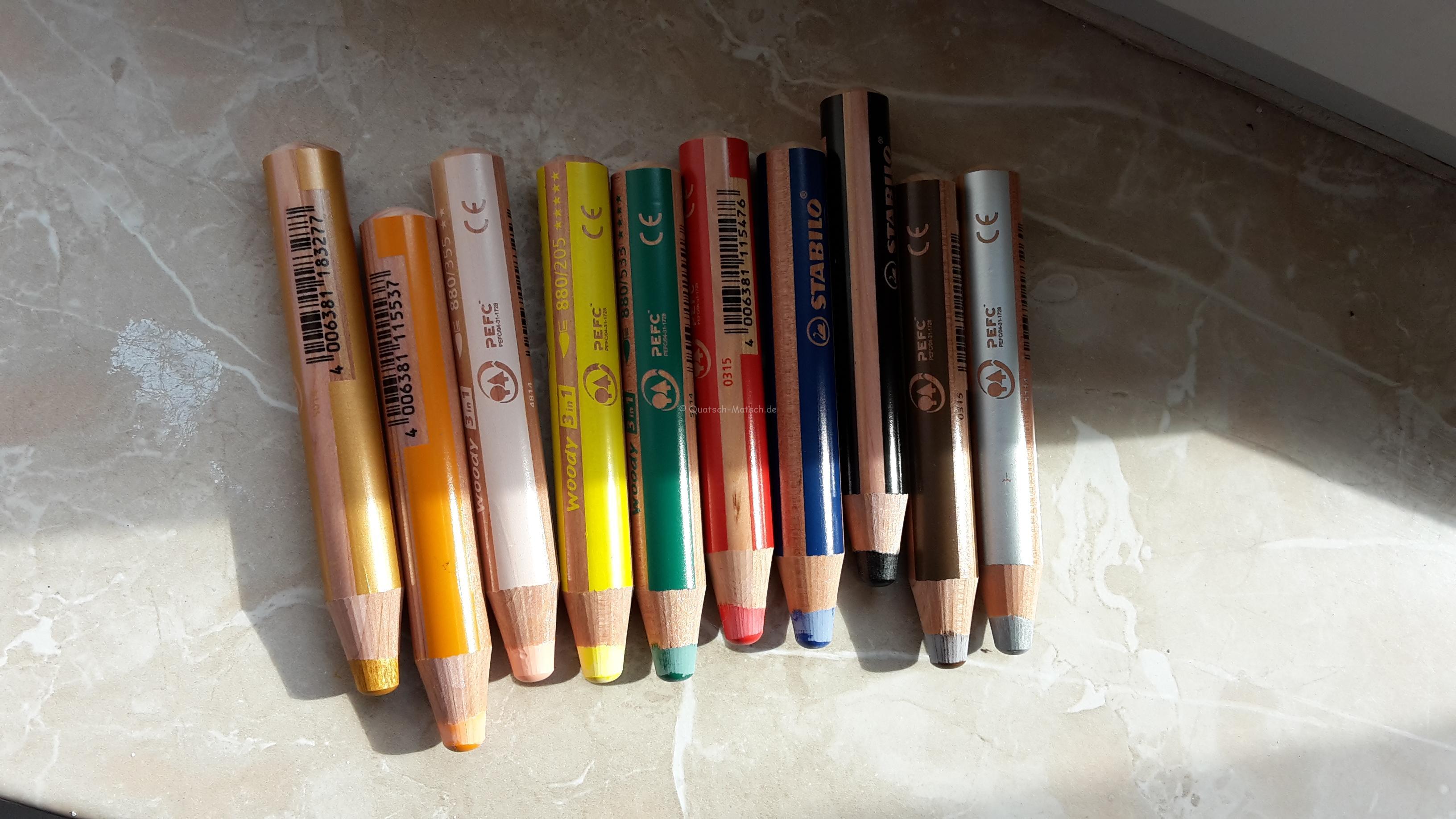 Die Woodys – 3 in 1 Stifte von Stabilo