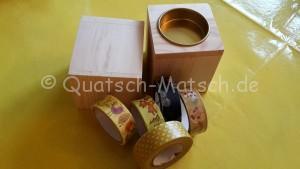Teelichter Washi Tape Kreativ sein Bastelanleitung