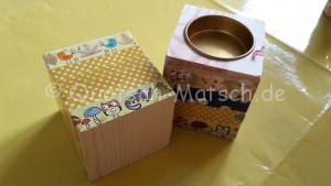 teelicht aus Washi Tape Reispapier