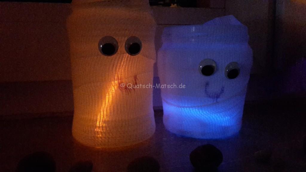 Mumien Deko Windlicht Halloween