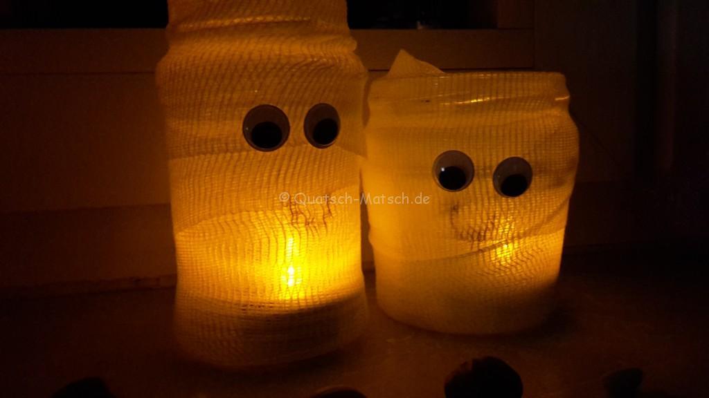Windlicht Halloween Tischdeko