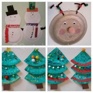 Weihnachtsbasteln mit Papptellern