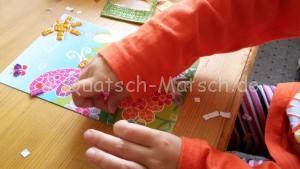 Mosaik aus Moosgummi für Kinder