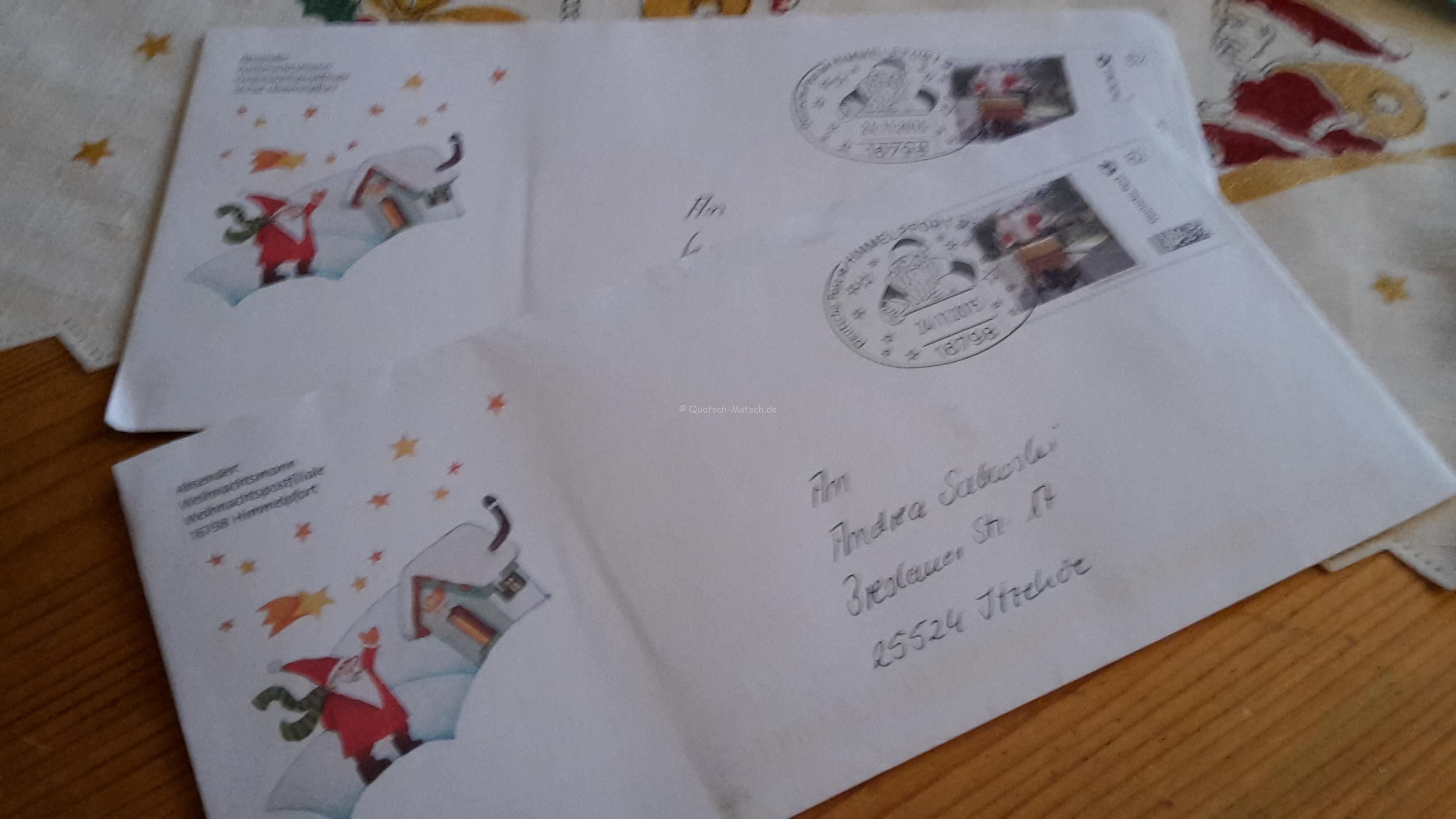 Der Brief von dem Weihnachstmann
