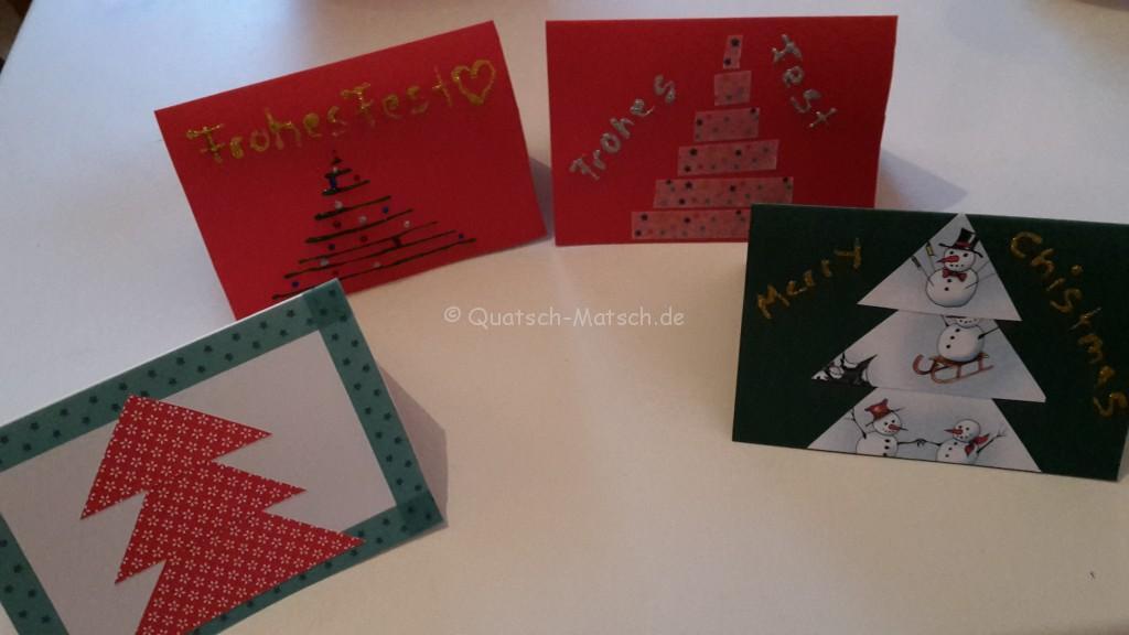 weihnachtskarten diy