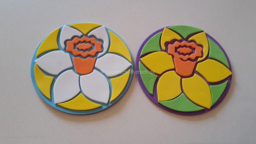 Blumen Untersetzer aus Moosgummi