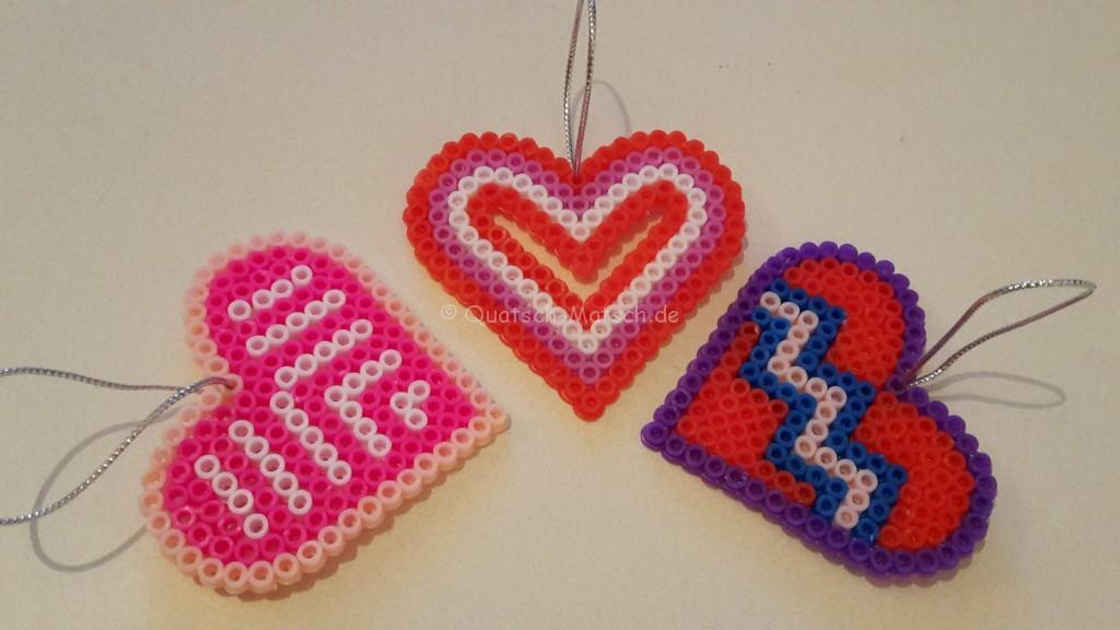 Herzen aus Bügelperlen