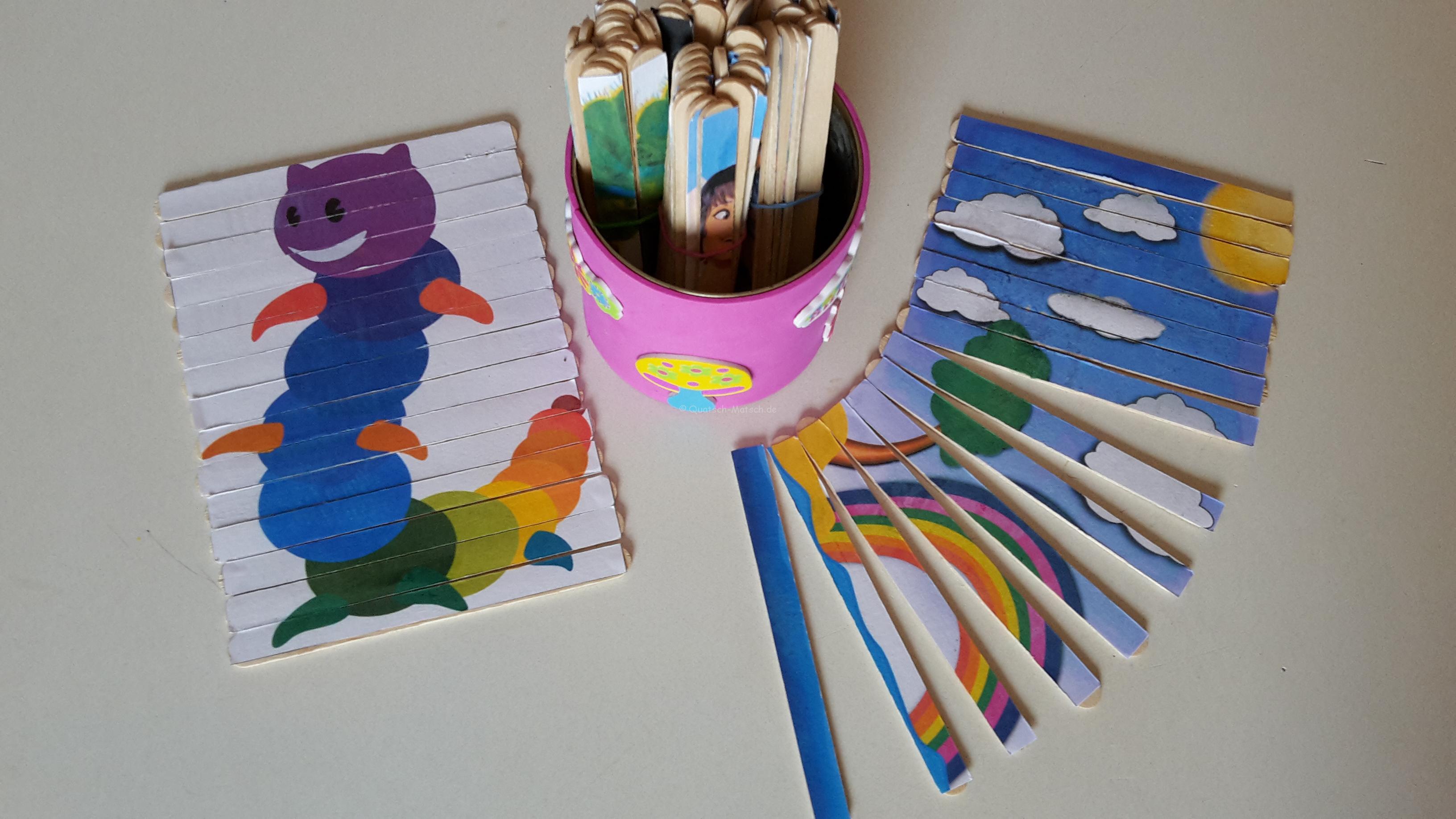 Puzzle aus Eisstielen – DIY