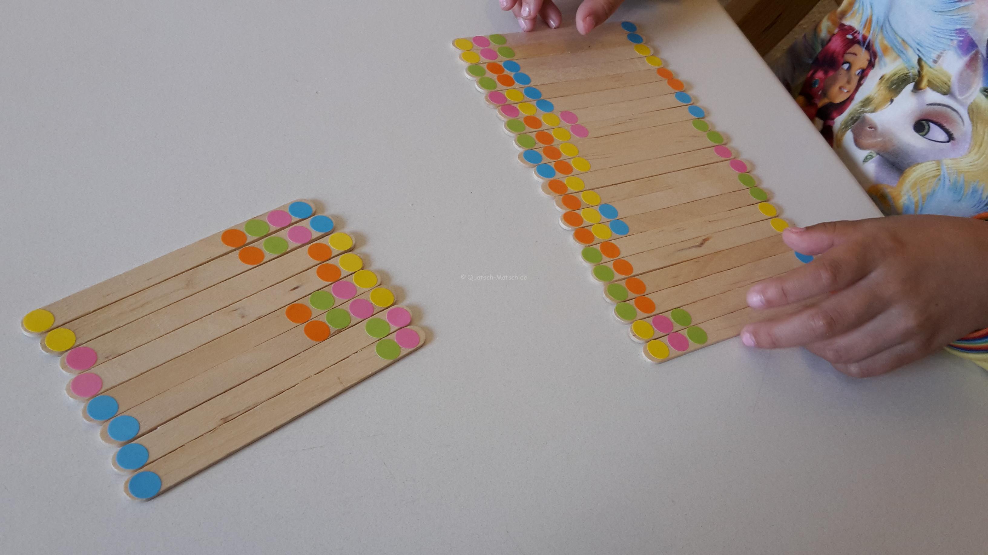 Memory Spiel aus Eisstielen – DIY