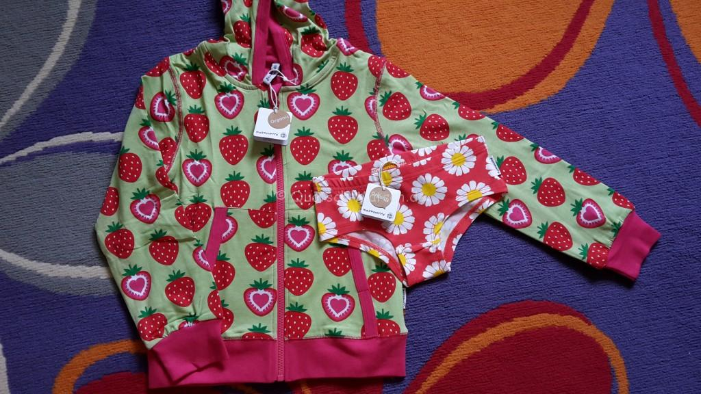 Maxomorra Strawberry Hoodie Daisy