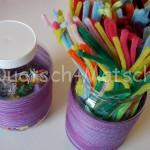 Bügelperlen Plastikdosen – Upcycling