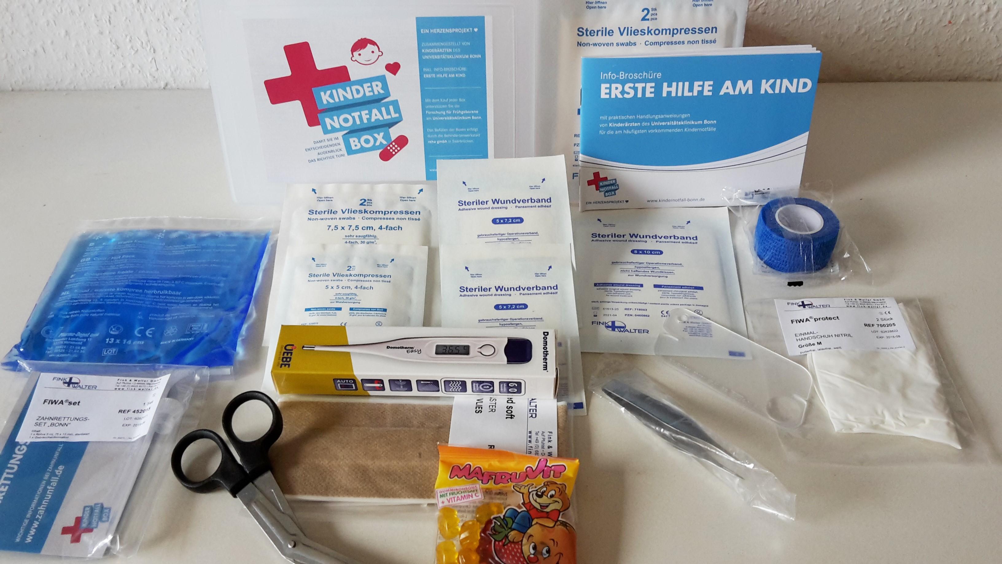 Erste Hilfe bei Kindern – Kindernotfallbox