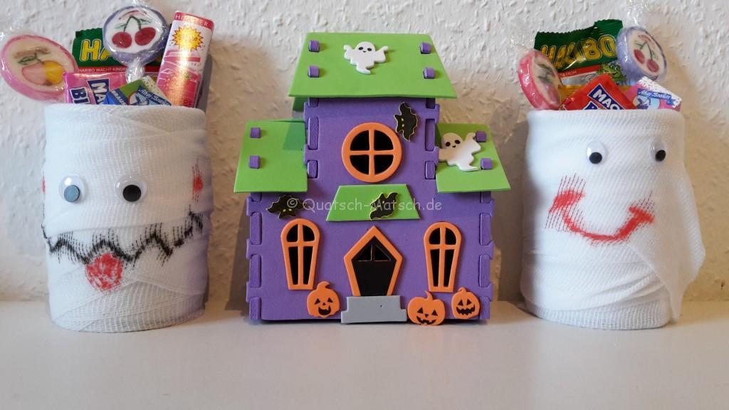 Halloween Deko selber machen mumien kinder