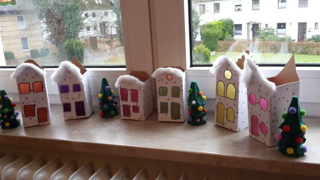 weihnachtsstadt milchtüten upcycling