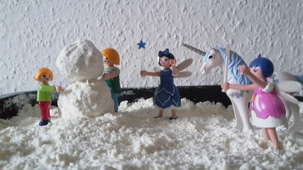 schnee selber machen anleitung rezept playmobil winter