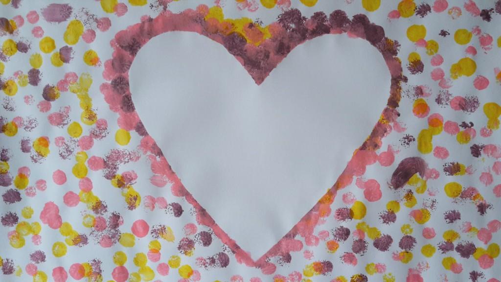 Herz malen kinder