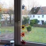 Blumengirlande für das Fenster