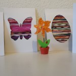 Bunte Fadenbilder zu Ostern – Basteln mit Kinder