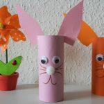 Osterhasen aus Toilettenpapierrollen – DIY