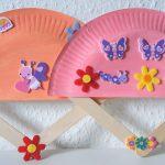 Fächer aus Pappteller – Basteln mit Kindern
