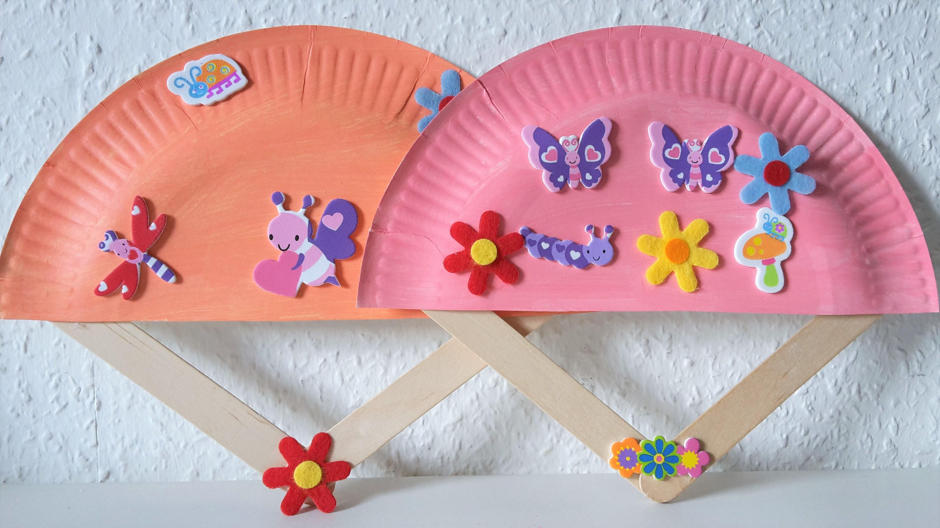 f cher aus pappteller basteln mit kindern der familienblog f r kreative eltern. Black Bedroom Furniture Sets. Home Design Ideas