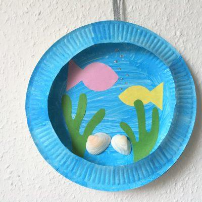 Aquarium aus Pappteller basteln