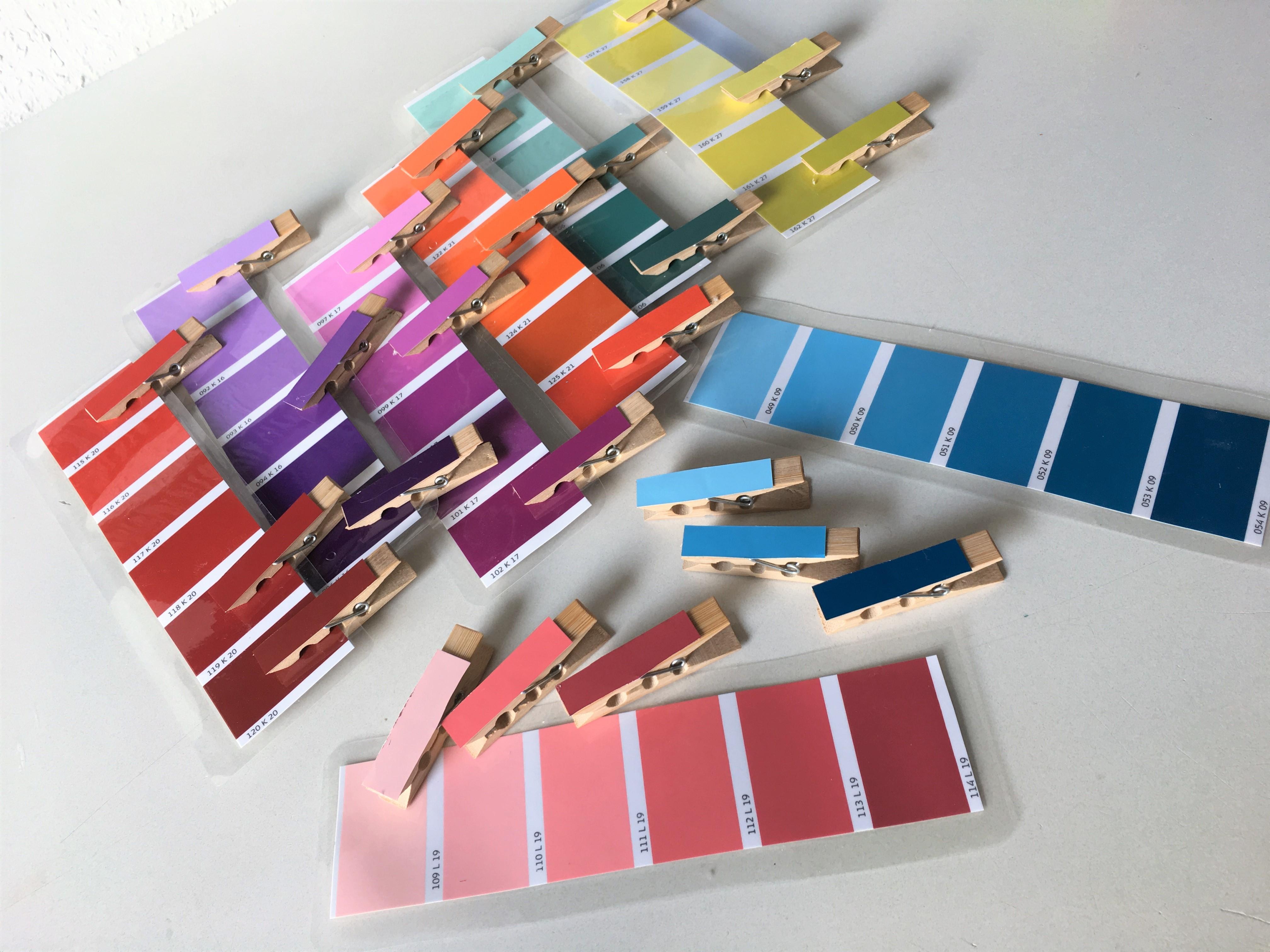 montessori farben sortieren diy kinder