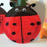 Marienkäfer aus Pappteller mit Kindern basteln – Teil 2