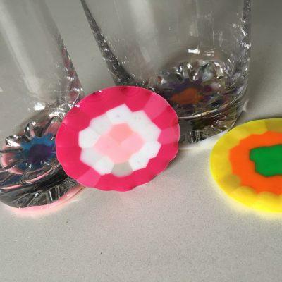 Pony Beads Glas Untersetzer
