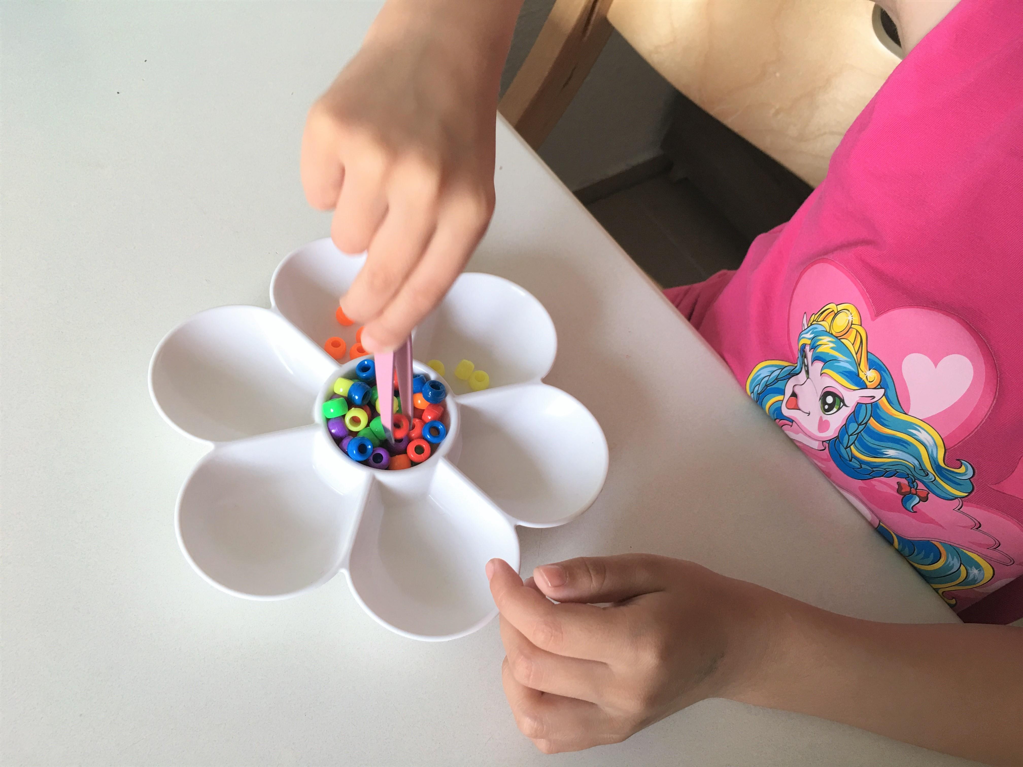 montessori perlen sortieren
