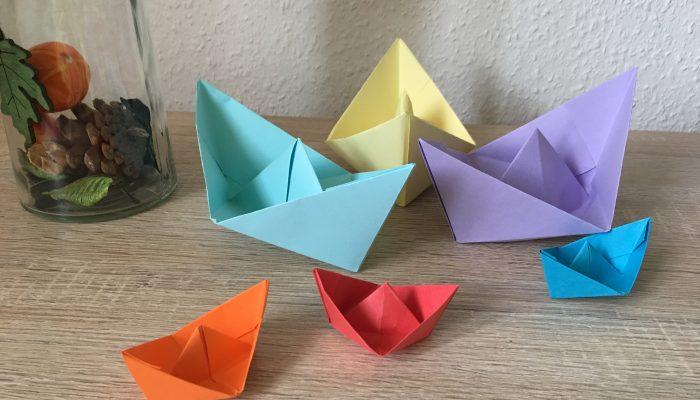 Papierschiffchen basteln