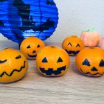 Clementinen in Halloweenkürbisse verwandeln – Gesunde Snacks