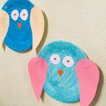 Eulen aus Pappteller – Basteln für den Herbst