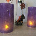 Windlicht aus Servietten – Basteln für Halloween