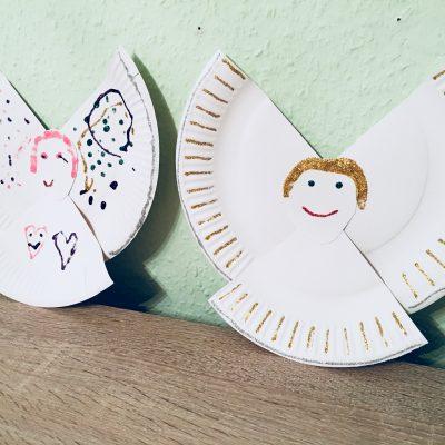 Engel aus Pappteller – Basteln mit Kindern