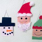 Basteln zu Weihnachten mit Eisstielen